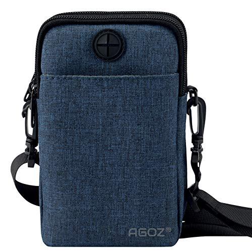 e9c3ddce857 Agoz Crossbody Cell Phone Purse Handbag Wallet Sling Shoulder Bag - Utility  Holder Case - Travel Neck Pouch Neck Wallet – Passport Holder to Keep ...