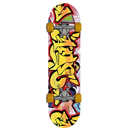 Gemgo 9 Plies Maple Deck Sturdy Skateboard with Doodle Pattern (Palace Skateboards Complete)