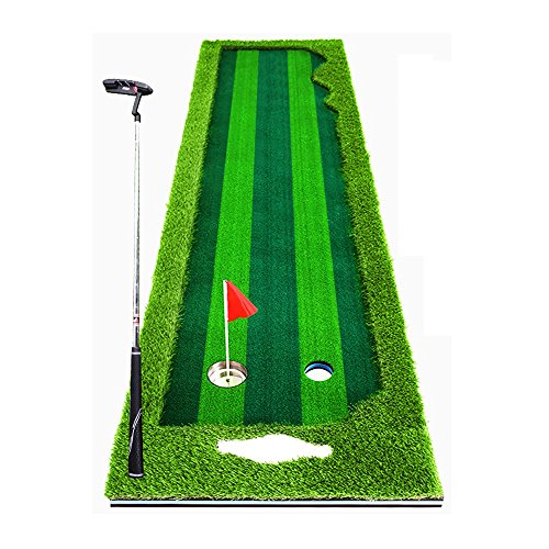 Widened Upgraded Version Indoor Golf Course   Putt Exerciser Home / Office Green Carpet High Simulation Four-color Grass Multi-lane Design