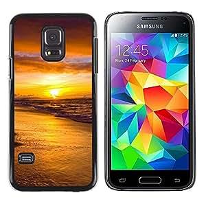Caucho caso de Shell duro de la cubierta de accesorios de protección BY RAYDREAMMM - Samsung Galaxy S5 Mini, SM-G800 - Sunset Sea Beautiful Nature 18