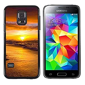 "For Samsung Galaxy S5 Mini ( NOT for regular S5 ) , S-type Puesta de sol Mar Beautiful Nature 18"" - Arte & diseño plástico duro Fundas Cover Cubre Hard Case Cover"