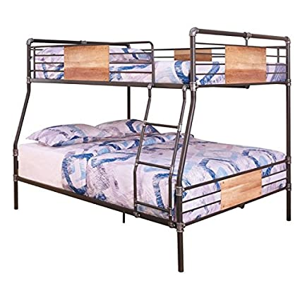 Image Unavailable Amazon.com: BOWERY HILL Full XL Over Queen Metal Bunk Bed in Sandy