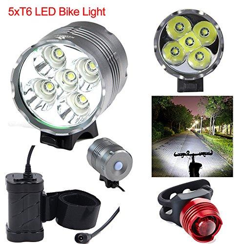 5 Bike Vélos Led 7000lm Cree T6 Nestling® Xm L Rechargeable Light U2 If76gvYbym