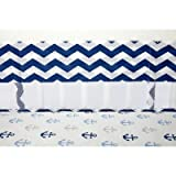 Little Love by NoJo Separates Collection Chevron Print Crib Liner, Navy/White
