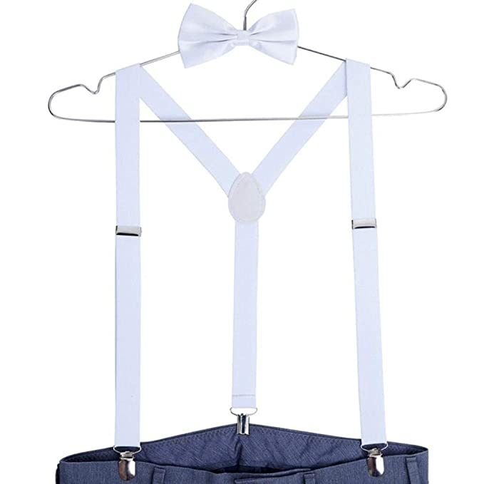 XLMYEN Adult 3 Clip Suspenders Hombre Para Pantalones Corbata De ...