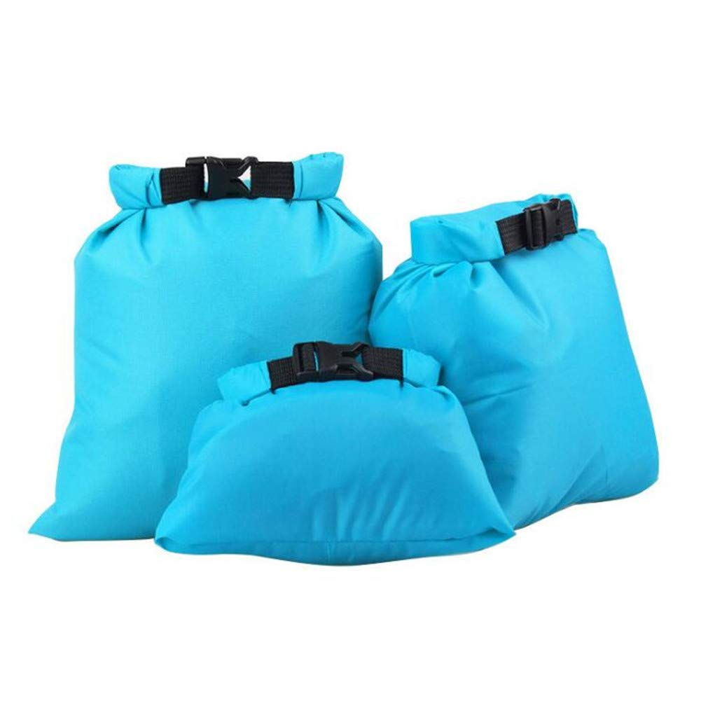 XUBA 3pcs//Set Coated Waterproof Dry Bag Storage Pouch Rafting Canoeing Boating Dry Bag