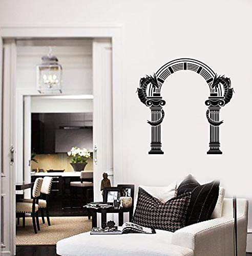Ancient Greek Arch Vinyl Wall Decal Dragons Home Room Decor Art Stickers Mural and Stick Wall Decals]()