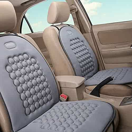 Swivel Seat Cushion for Car for Elderly,Ultra-Thin Car Seat Swivel Cushion Beige, Rhombus Rotation 360/° Cushion Memory Sponge Seat Cushion Soft Chair Pad 4040