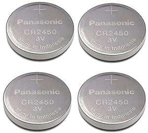 Panasonic Cr2450 Cr 2450 Lithium 3v Battery [ Pack of 4 ]