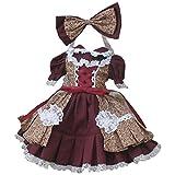 Partiss 1/3 BJD SD Doll Clothes Lovely Girls Lolita Dress,1/3,Wine Red