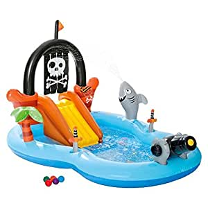 Intex inflatable pirate play center pool toys - Inflatable pirate ship swimming pool ...