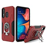 UNC Pro 2 in 1 Cell Phone Case w/Bottle Opener Kickstand for Samsung Galaxy A20 / A30 / A50, TPU Hybrid Shockproof Bumper Anti-Scratch Dual Layer Case, Red