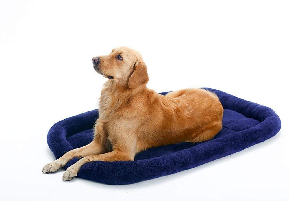 CFHJN HOME Soft Fleece Pet Dog Cat Blanket Cushion Bed Warm Sleeping Mat (Dark bluee,M) Pet Bed Blanket