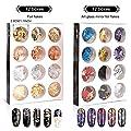 Teenitor 48 Boxes Nail Art Kit Including Nail Art Foil, Nail Art Glass Mirror Foil, Glitter Foil Chips, Japanese Nail Art Line Strips For 3D Nail Art Design 34 Colors