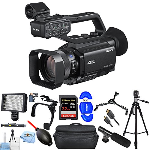 Sony HXR-NX80 Full HD XDCAM with HDR & Fast Hybrid AF PRO Bundle with 32GB SD, Tripod, Microphone, Shoulder Stabilizer, LED Light + More [International Version] -  Pixel Hub, SONYHXRNX802