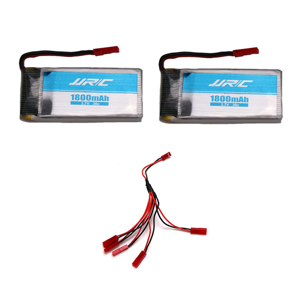 Baterias Lipo (2) 3.7v 800mah Rc Jjrc