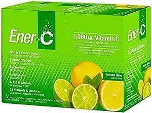 Ener-C Vitamin Drink Mix, Lemon Lime, 1000 Mg, 30 Count
