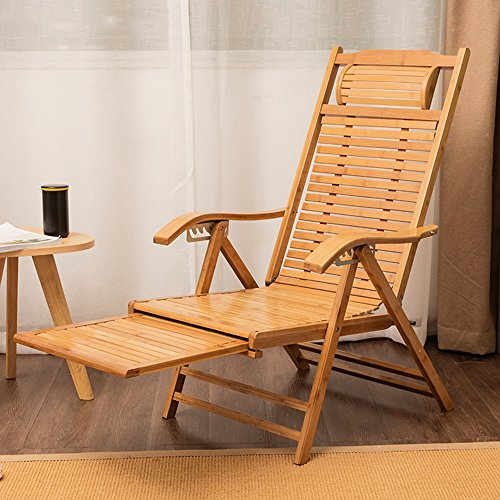 Lounge Chairs ZHIRONG 6 Grades Adjustable Recliners Bamboo Chair Old Man  Siesta Chair Lazy Chair Folding