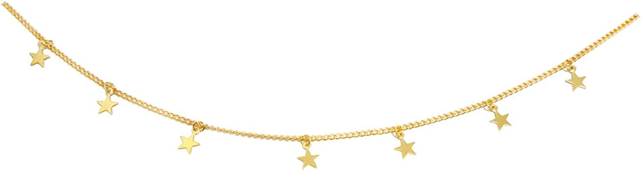 ROSTIVO Star Necklace for Women Trendy Star Necklace Choker for Girls (Gold)