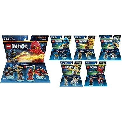 Lego Dimensions Ninjago Complete Bundle includes 71207 Team Pack, 71216 Nya, 71217 Zane, 71234 Sensei Wu, 71239 Lloyd and 71215 Jay (Set of 6)