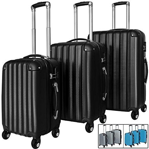 Hartschalenkofferset schwarz mit TSA Schloss