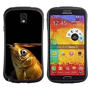 Exotic-Star Hybrid Heavy Duty Shockproof iFace Fundas Cover Cubre Case para Samsung Galaxy Note 3 III / N9000 / N9005 ( Goldfish divertido )