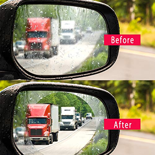 Car Rearview Mirror Rainproof Film - 2 HD Anti-fog Anti-glare Anti-scratch Waterproof Universal Auto Back Mirror Screen Nano Protective Films (9595mm)