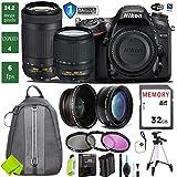 Nikon D7200 DSLR Camera 18-140mm VR Lens Bundle (18-140mm VR & Nikon 70-300mm VR, 1 Year Extended Warranty)