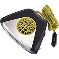 Car Heater,SHZONS Car Fan Heater Defroster with 12V 150W Swing-out Handle 2 in 1 Handy Winter Auto Electronic Windscreen Heater Fan Defroster Demister