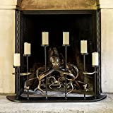 Viridian Bay Octopus Fireplace Candelabra