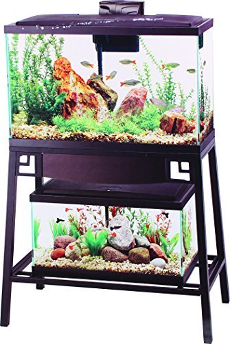 Aqueon Forge Metal Aquarium Stand, 30 by 12-Inch, Black