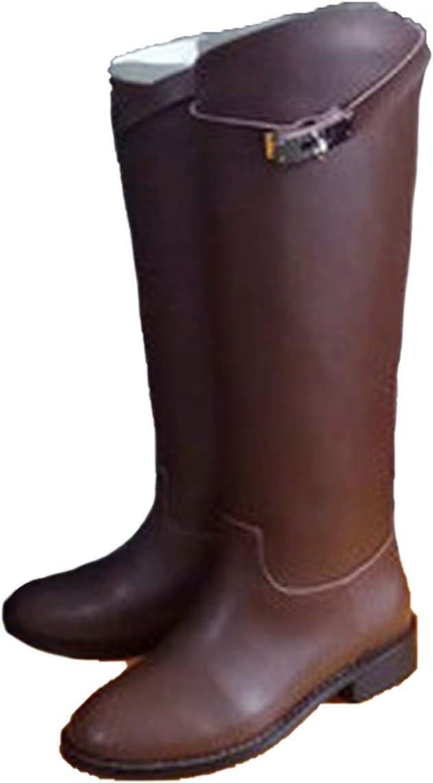 Damen Stiefel aus echtem Leder, mit Gürtel, Hai Verschluss