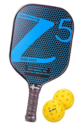 Onix Graphite Z5 Pickleball Paddle Includes Pure 2 Outdoor Pickleball Balls (Pack of 2 Balls)