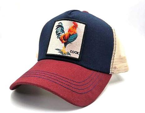 Gorra de béisbol de algodón Gallo de patrón Europeo y Americano ...