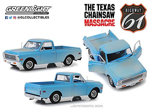 18 Highway 61 Diecast Model - New DIECAST Toys CAR Highway 61 1:18 The Texas Chainsaw Massacre (1974) - 1971 Chevrolet C-10 (Weathered Light Blue) HWY-18014
