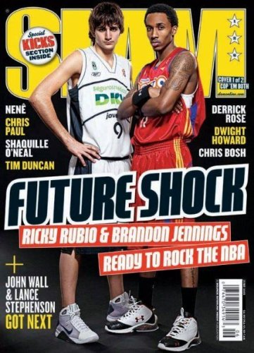 SLAM Magazine: Brandon Jennings & Ricky Rubio (May 2009)