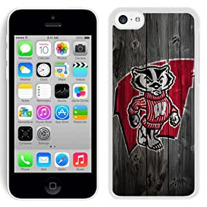 Beautiful And Popular Designed With Ncaa Big Ten Conference Football Wisconsin Badgers 5 Protective Cell Phone Hardshell Cover Case For iPhone 5C Phone Case Black