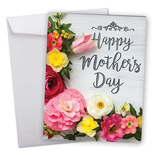 J3524MDG Jumbo Funny Mother's Day Card: Mother's Day Blooms With Envelope (Extra Large Version: 8.5'' x - Free Mothers Cards Day Shipping