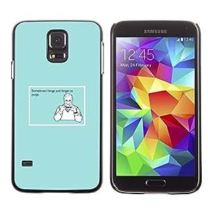 TECHCASE**Cubierta de la caja de protección la piel dura para el ** Samsung Galaxy S5 SM-G900 ** Binge Purge Funny Quote Man Food Sandwich