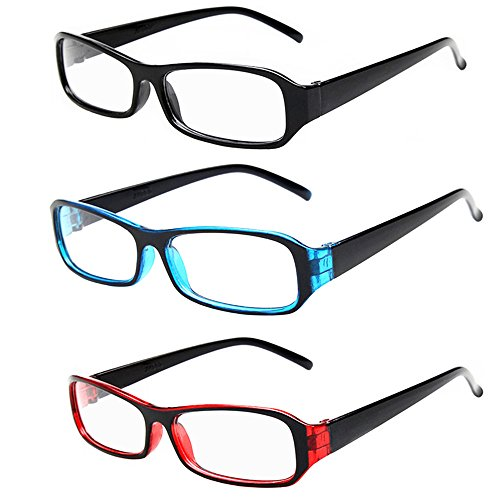 [FancyG® Vintage Inspired Classic Rectangle Glasses Frame Eyewear Clear Lens 3 Pieces Set 4] (Funny Weird Halloween Costumes)