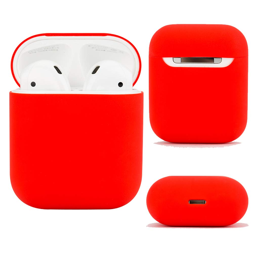 f1738f29aaf Amazon.com: Airpods Case Protective Silicone Cover and Skin for Apple  Airpods Charging Case (Red): Home Audio & Theater
