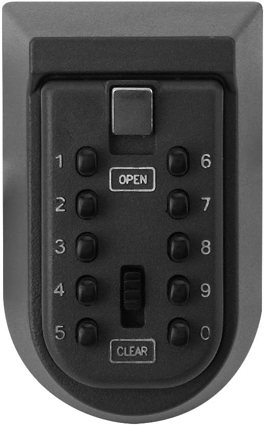 10 Buttons Password Key Lock Box Wall Mount Safe Security Storage Case Organizers