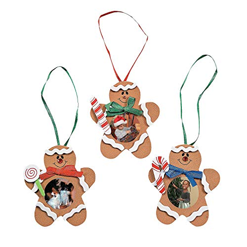 Gingerbread Man Photo Frame Ornament Craft Kit/1 Dozen