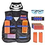 Walsilk Children Kids Tactical Vest Kit for Nerf Guns N-Strike Elite Series,Adjustable Elite Tactical Vest Jacket Kit, for Kid Toy Play or Other Outdoor Activities