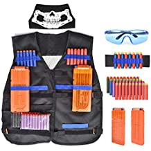 Walsilk Children Kids Tactical Vest Kit for Nerf Guns N-Strike Elite Series,Adjustable Elite Tactical Vest Jacket Kit,Perfect Gift for Kid Toy Play or Other Outdoor Activities
