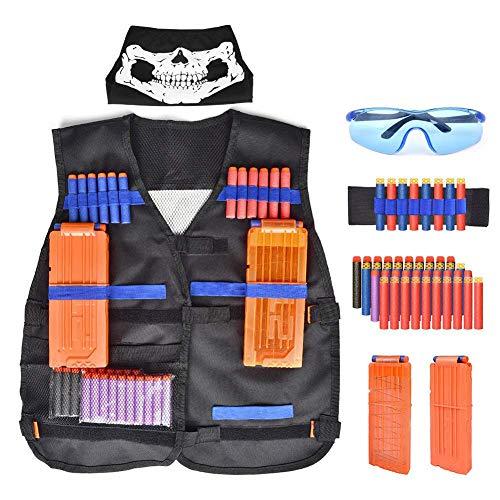 Walsilk Children Kids Tactical Vest Kit for Nerf Guns N-Strike Elite Series,Adjustable Elite Tactical Vest Jacket Kit,Perfect Gift for Kid Toy Play or Other Outdoor - Toy Kids Guns