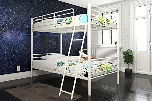 DHP Tailor Convertible Bunk bed, Converts to two Twin Beds, Twin-over-Twin, White