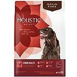 Holistic Select Natural Grain Free Dry Dog Food, Senior Chicken Meal & Lentil Recipe, 12-Pound bag