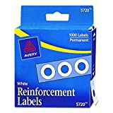 Kyпить Avery Hole Reinforcements, White, 1000/Pack, PK - AVE05720 на Amazon.com