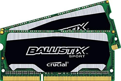Ballistix Sport SODIMM 8GB Kit 4GBx2 DDR3 1600 MT/s PC3-12800 (Dram Computer Memory)